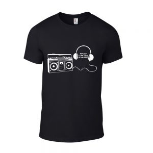 BOOMBOX/HEADPHONES HipHop U The Love of my Life SHORT SLEEVE TSHIRT