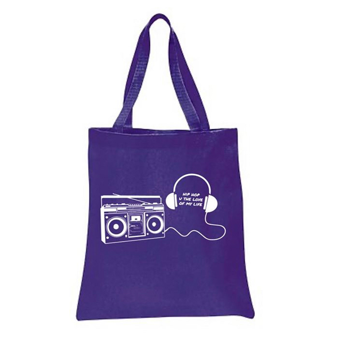 BOOMBOX/HEADPHONES HipHop U The Love of my Life (Double-sided) TOTE